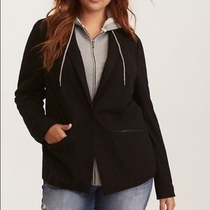 Torrid hooded blazer